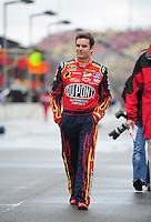 Feb 24, 2008; Fontana, CA, USA; NASCAR Sprint Cup Series driver Jeff Gordon prior to the Auto Club 500 at Auto Club Speedway. Mandatory Credit: Mark J. Rebilas-US PRESSWIRE