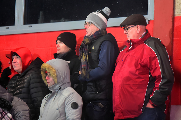 Fleetwood Town fans look on<br /> <br /> Photographer Richard Martin-Roberts/CameraSport<br /> <br /> The EFL Sky Bet League One - Saturday 15th December 2018 - Fleetwood Town v Burton Albion - Highbury Stadium - Fleetwood<br /> <br /> World Copyright © 2018 CameraSport. All rights reserved. 43 Linden Ave. Countesthorpe. Leicester. England. LE8 5PG - Tel: +44 (0) 116 277 4147 - admin@camerasport.com - www.camerasport.com