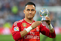 Keylor Navas of Real Madrid during the match between Real Madrid v Cd Leganes of LaLiga, 2018-2019 season, date 3. Santiago Bernabeu Stadium. Madrid, Spain - 1 September 2018. Mandatory credit: Ana Marcos / PRESSINPHOTO