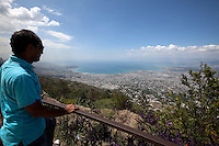 April 5th, 2011_ PORT AU PRINCE, HAITI_ Views of Port au Prince is seen from a hilltop to the city's south. Photographer: Daniel J. Groshong/The Hummingfish Foundation