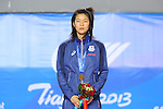 Mayu Hamada (JPN), OCTOBER 8, 2013 - Taekwondo : Tianjin 2013 the 6th East Asian Games, Women's -57kg victory ceremony at Dongjuzi Gymnasium, Tianjin, China. (Photo by AFLO SPORT)