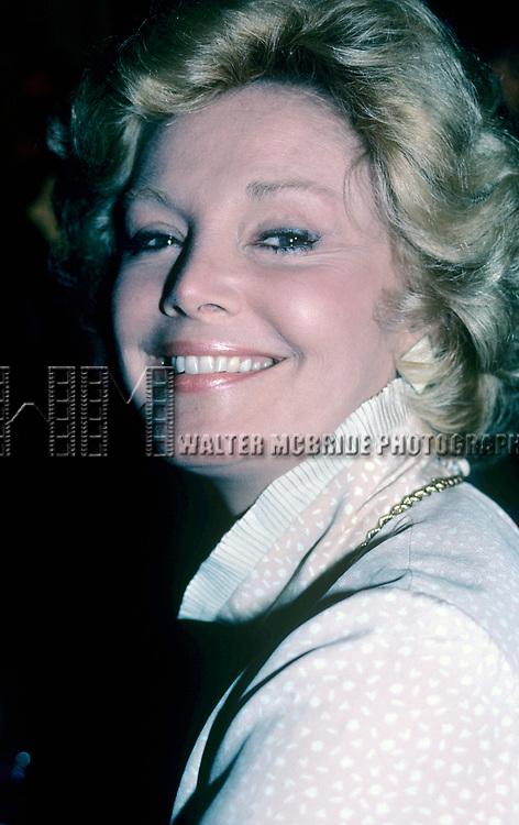 Barbara Sinatra on October 1,1982 in New York City.