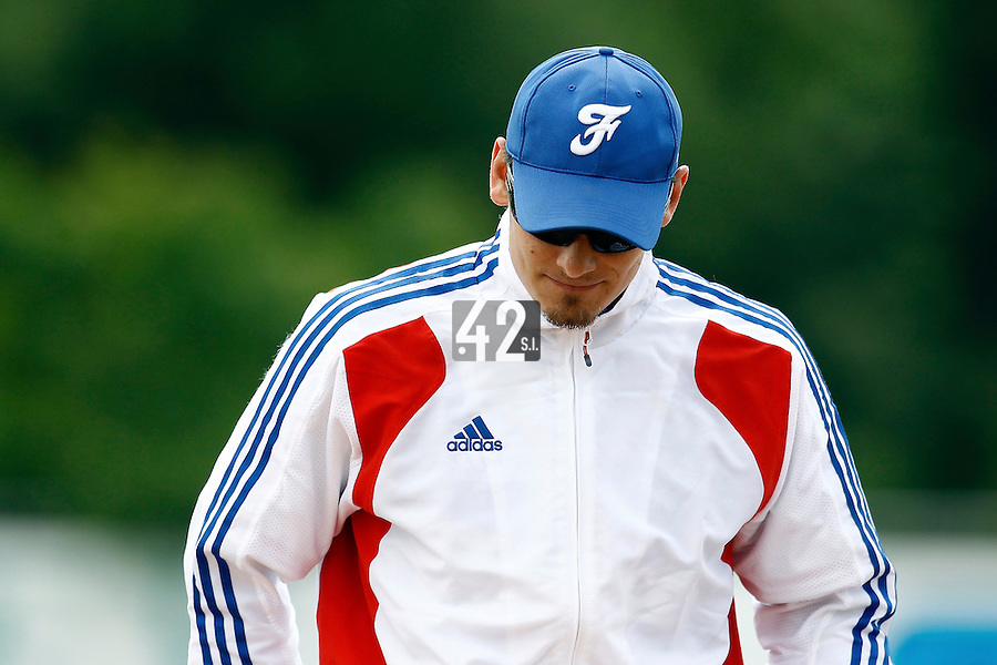 25 June 2011: Paul Mildren of Team France is seen during Czech Republic 11-1 win over France, at the 2011 Prague Baseball Week, in Prague, Czech Republic.