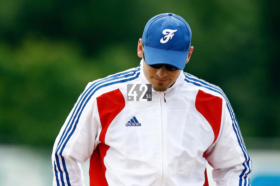 25 June 2011: Paul Mildren of Team France is seen during Czech Republic 11-1 win over France, at the 2011 Prague Baseball Week, in Prague, Czech Republic.
