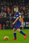 Jordi Alba Ramos of FC Barcelona runs with the ball during the La Liga 2017-18 match between Valencia CF and FC Barcelona at Estadio de Mestalla on November 26 2017 in Valencia, Spain. Photo by Maria Jose Segovia Carmona / Power Sport Images
