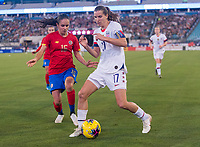 , FL - : Tobin Heath #17 of the United States dribbles to the corner during a game between  at  on ,  in , Florida.