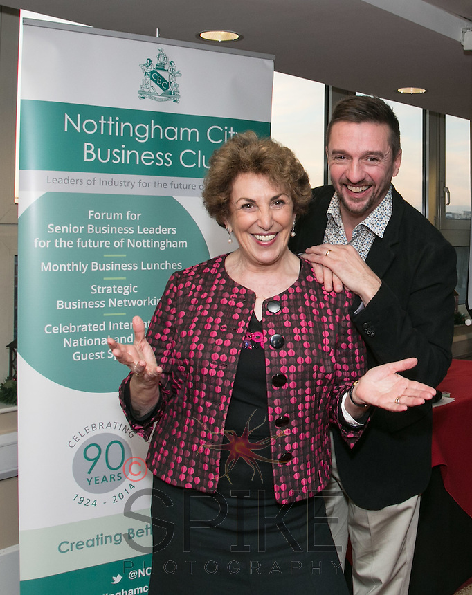 Edwina Currie pictured with official NCBC photographer Spike Reddington