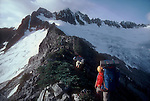North Cascades National Park, Mount Buckner, North Ridge, National Outdoor Leadership School climbers, Cascade Mountains, Washington State, Pacific Northwest, U.S.A.,