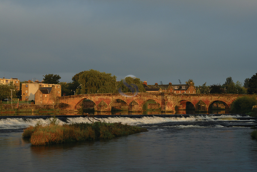 The Devorgilla Bridge spanning the River Nith, Dumfries, Dumfries and Galloway<br /> <br /> Copyright www.scottishhorizons.co.uk/Keith Fergus 2011 All Rights Reserved
