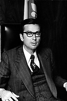 EXCLUSIVE File photo between 1970 and 1976- Quebec Premier Robert Bourassa in his Montreal office