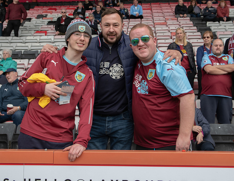 Burnley fans <br /> <br /> Photographer David Horton/CameraSport<br /> <br /> The Premier League - Bournemouth v Burnley - Saturday 6th April 2019 - Vitality Stadium - Bournemouth<br /> <br /> World Copyright © 2019 CameraSport. All rights reserved. 43 Linden Ave. Countesthorpe. Leicester. England. LE8 5PG - Tel: +44 (0) 116 277 4147 - admin@camerasport.com - www.camerasport.com