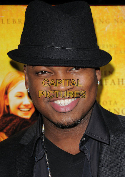 """NE-YO ( Shaffer Chimere Smith).The Fox Searchlight L.A. Premiere of """"The Secret Life of Bees"""" held at The Academy of Motion Arts & Sciences in Beverly Hills, California, USA..October 6th, 2008.headshot portrait black hat goatee facial hair .CAP/DVS.©Debbie VanStory/Capital Pictures."""