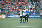 The Hague, Netherlands, June 06: Linus Butt #3 of Germany and Thilo Stralkowski #26 of Germany argue with the umpire during the field hockey group match (Men - Group B) between Germany and The Netherlands on June 6, 2014 during the World Cup 2014 at Kyocera Stadium in The Hague, Netherlands. Final score 0-1 (0-1) (Photo by Dirk Markgraf / www.265-images.com) *** Local caption ***