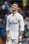 Cristiano Ronaldo of Real Madrid celebrates during their La Liga match between Real Madrid and Athletic Club at the Santiago Bernabeu Stadium on 23 October 2016 in Madrid, Spain. Photo by Diego Gonzalez Souto / Power Sport Images
