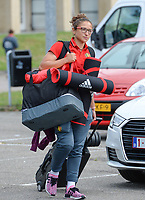 20170725 - TILBURG , NETHERLANDS :  Belgian Sara Yuceil pictured going back to Belgium as the Belgian national women's soccer team Red Flames was not able to qualify for the quarter finals after a loss against The Netherlands , on Tuesday 25 July 2017 in Tilburg . The Red Flames finished on 3 th place in Group A at the Women's European Championship 2017 in the Netherlands. PHOTO SPORTPIX.BE | DAVID CATRY