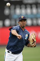 July 7 2009: Jose Rivero of the Everett AquaSox before game against the Yakima Bears at Everett Memorial Stadium in Everett,WA.  Photo by Larry Goren/Four Seam Images