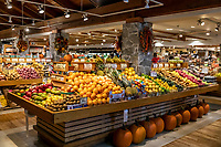 Grocery store produce section.