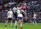 5th November 2017, Wembley Stadium, London England; EPL Premier League football, Tottenham Hotspur versus Crystal Palace; Davinson Sanchez of Tottenham Hotspur and Scott Dann of Crystal Palace compete for the ball