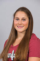 Stanford, CA - October 9, 2015: Women\'s Gymnastics portraits and team photo.