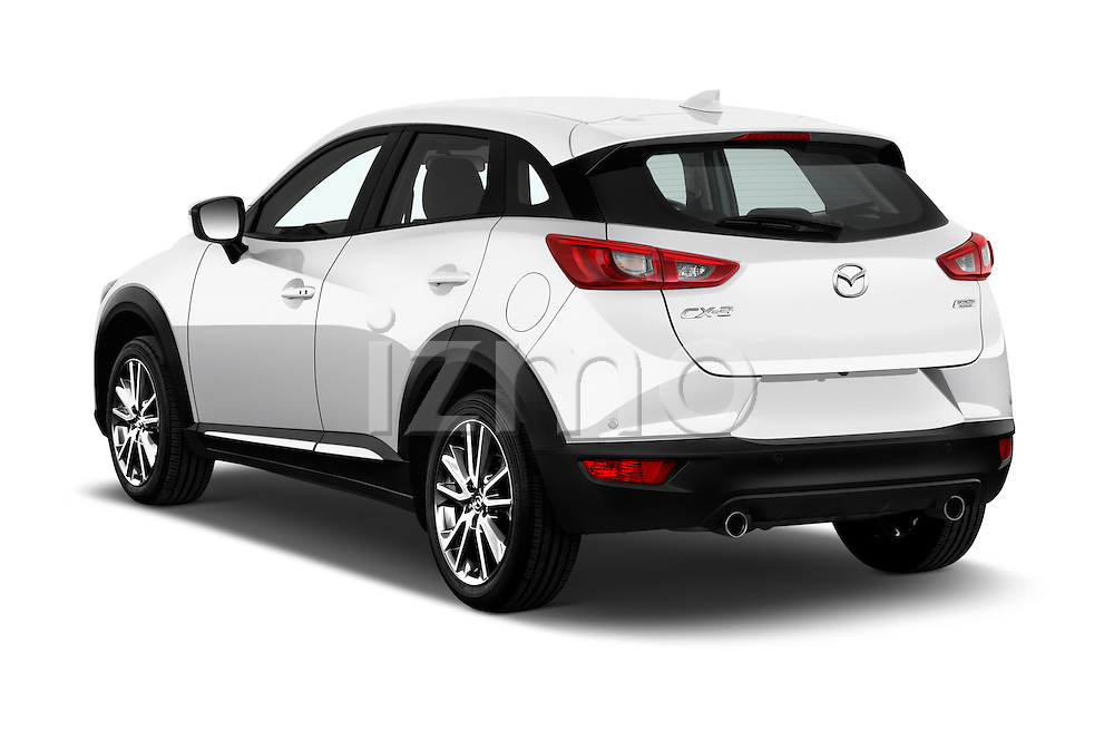 Car pictures of rear three quarter view of 2015 Mazda CX-5 Skycruise 5 Door Suv Angular Rear