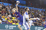 Jure Dolenec,4th October  2017, Palau Blaugrana, Barcelona, Spain; EHF Mens Champions League Group Phase, handball. FC Barcelona Lassa v CRO HC Prvo Plinarski Drustvo