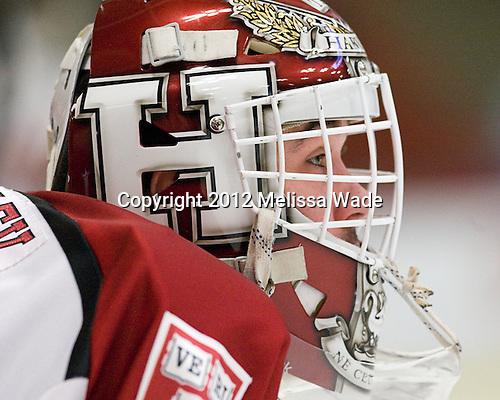 Steve Michalek (Harvard - 34) - The Harvard University Crimson defeated the visiting Brown University Bears 3-2 on Friday, November 2, 2012, at the Bright Hockey Center in Boston, Massachusetts.