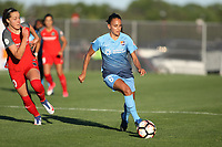 Piscataway, NJ - Saturday June 3, 2017: Celeste Boureille, Taylor Lytle during a regular season National Women's Soccer League (NWSL) match between Sky Blue FC and the Portland Thorns at Yurcak Field.  Portland defeated Sky Blue, 2-0.