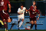 14 August 2015: North Carolina's Alan Winn (18) and Winthrop's James Skonicki (23). The University of North Carolina Tar Heels hosted the Winthrop University Eagles at Fetzer Field in Chapel Hill, NC in a 2015 NCAA Division I Men's Soccer preseason exhibition. North Carolina won the game 4-1.