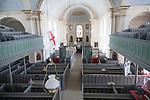 Interior of Saint George church, Isle of Portland, Dorset, England, UK