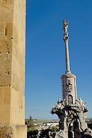 Statue of San Rafael the patron saint of Cordoba, Andalusia, Spain.