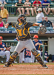 22 March 2015: Pittsburgh Pirates catcher Sebastian Valle in Spring Training action against the Houston Astros at Osceola County Stadium in Kissimmee, Florida. The Astros defeated the Pirates 14-2 in Grapefruit League play. Mandatory Credit: Ed Wolfstein Photo *** RAW (NEF) Image File Available ***