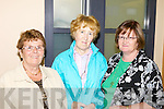 PILGRIMS: Joan O'Connor (Glenbeigh), Mary Buckley (Knocknagree) and Bridie Murphy (Listry) were among those departing Kerry Airport last Thursday on the annual Kerry pilgrimage to Lourdes.