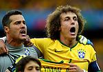 Julio Cesar (BRA), David Luiz (BRA),<br /> JULY 8, 2014 - Football / Soccer : FIFA World Cup 2014 semi-finals match between Brazil 1-7 Germany at Mineirao stadium in Belo Horizonte, Brazil.<br /> (Photo by FAR EAST PRESS/AFLO)