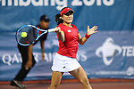 Makoto Ninomiya  (JPN),<br /> AUGUST 21, 2018 - Tennis : <br /> Mixed Doubles Round of 16<br /> at Jakabaring Sport Center Tennis Court <br /> during the 2018 Jakarta Palembang Asian Games <br /> in Palembang, Indonesia. <br /> (Photo by Yohei Osada/AFLO SPORT)