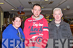 GREYHOUND TIME: Enjoying a great time at the Kingdom Greyhound Stadium Night at the Dogs on Friday l-r: Samina Ali, James O'Rourke and Chris Houlihan all from Ballyduff.