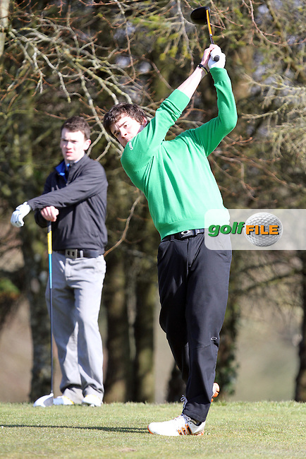 Kyle McCarron (North West) on the 5th tee during the 2nd Round of the Munster Youths Amateur Open Championship 2013 at Ennis Golf Club, Co.Clare, 03/04/2013...(Photo Jenny Matthews/www.golffile.ie)