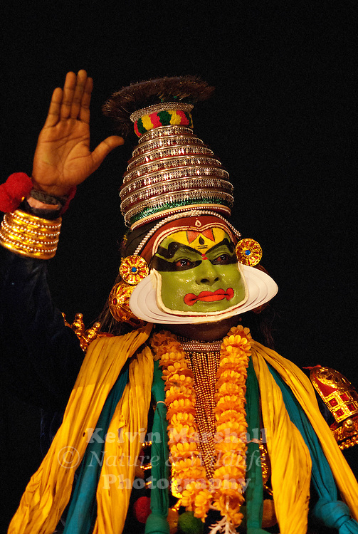 """Kathakali is one of the oldest forms of theatre/dance-dramas in the world. It originated in southwestern India (the state of Kerala now) during the 16th century. The name is derived from the South Indian language, Malayalam, and it means """"story"""" (katha) and """"performance"""" (kali)."""