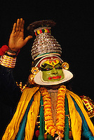 "Kathakali is one of the oldest forms of theatre/dance-dramas in the world. It originated in southwestern India (the state of Kerala now) during the 16th century. The name is derived from the South Indian language, Malayalam, and it means ""story"" (katha) and ""performance"" (kali)."