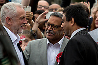 Jeremy Corbyn &amp; Navin Shah AM (Labour Party candidate for Member of Parliament for Harrow East).<br />