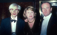 Andy Warhol Liz Smith Peter Allen 1982<br /> Photo By John Barrett/PHOTOlink.net