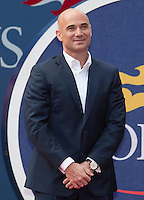 Andre Agassi..Tennis - US Open - Grand Slam -  New York 2012 -  Flushing Meadows - New York - USA - Saturday 9th September  2012. .© AMN Images, 30, Cleveland Street, London, W1T 4JD.Tel - +44 20 7907 6387.mfrey@advantagemedianet.com.www.amnimages.photoshelter.com.www.advantagemedianet.com.www.tennishead.net