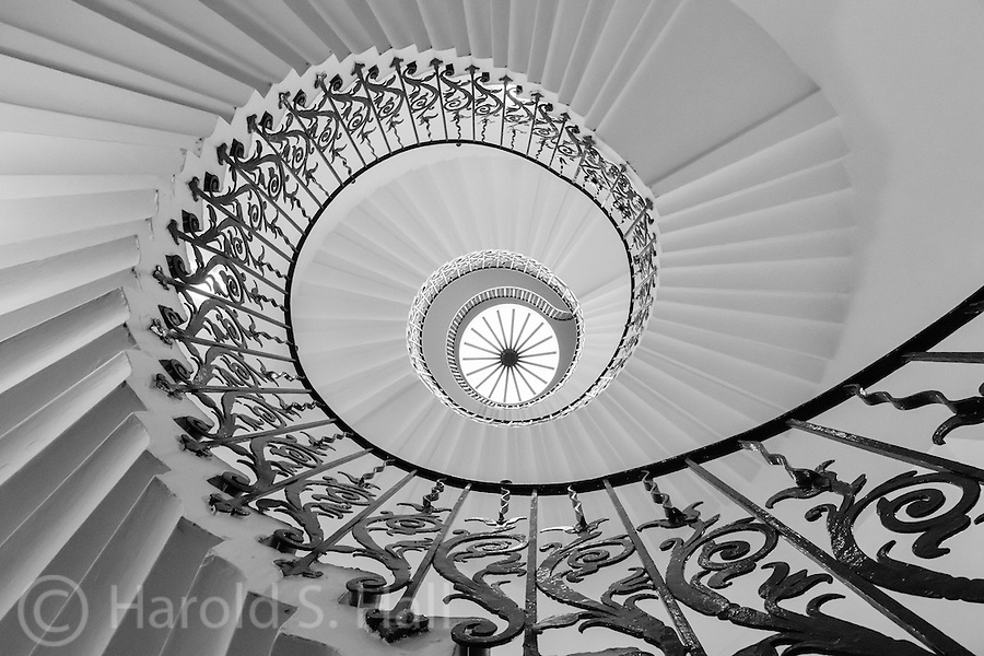 These are the spiral stairs in the Queen House in Greenwich England.  Completed in 1619, it is now open to the public.
