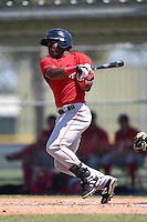 Boston Red Sox Franklin Guzman (28) during a minor league spring training game against the Baltimore Orioles on March 20, 2015 at Buck O'Neil Complex in Sarasota, Florida.  (Mike Janes/Four Seam Images)