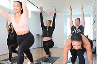 31 March 2017 - Beverly Hills, California - Jasmine Sanders, Draya Michele, Serayah McNeill. Draya Michele and Friends at AloYoga. Photo Credit: AdMedia