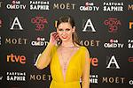 Manuela Velles attends 30th Goya Awards red carpet in Madrid, Spain. February 06, 2016. (ALTERPHOTOS/Victor Blanco)