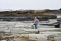 Richard on shore near Cape Elizabeth Lighthouse