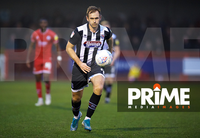 during the Sky Bet League 2 match between Crawley Town and Grimsby Town at The People's Pension Stadium, Crawley, England on 25 January 2020. Photo by Alan  Stanford / PRiME Media Images.