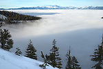 """Tahoe Undercover""  This is what Emerald Bay looked like the first day I went out to hike up the mountain to get a view of Lake Tahoe after the clouds were hovering over the basin for weeks.  The next day when I went back I captured the incredible view of ""Into the Mist"""