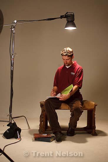 Salt Lake City - Matthew Ivan Bennett, resident playright of Plan-B Theatre Company, Thursday, September 18, 2008..