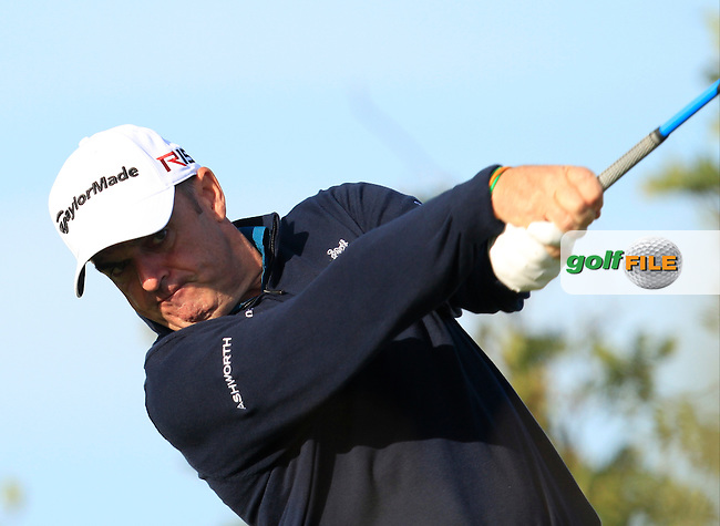 Paul McGinley (IRL) on the 12th tee during Round 1 of the 2015 KLM Open at the Kennemer Golf &amp; Country Club in The Netherlands on 10/09/15.<br /> Picture: Thos Caffrey | Golffile